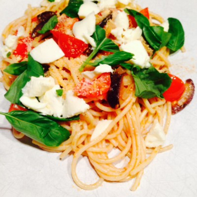 Spaghetti mozzarella & basilicum – week 16/5 tm 22/5