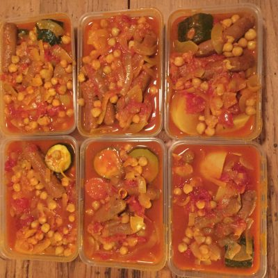Couscous aux légumes et kefta