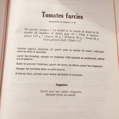Tomates farcies & pommes rissolees